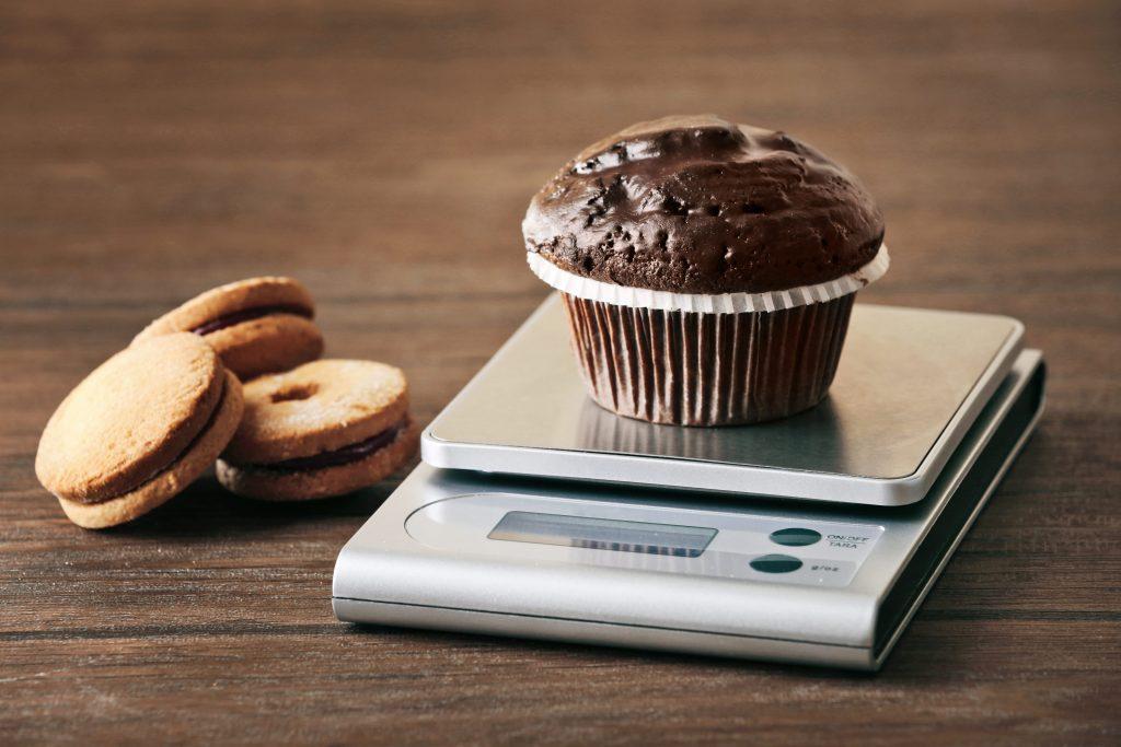 weighing food for macros
